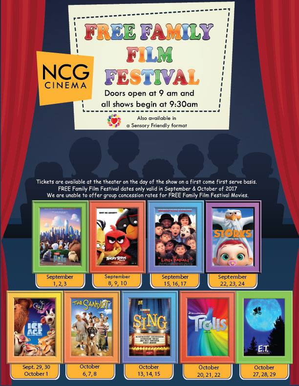 NCG FREE Family Film Festival - Fall 2017