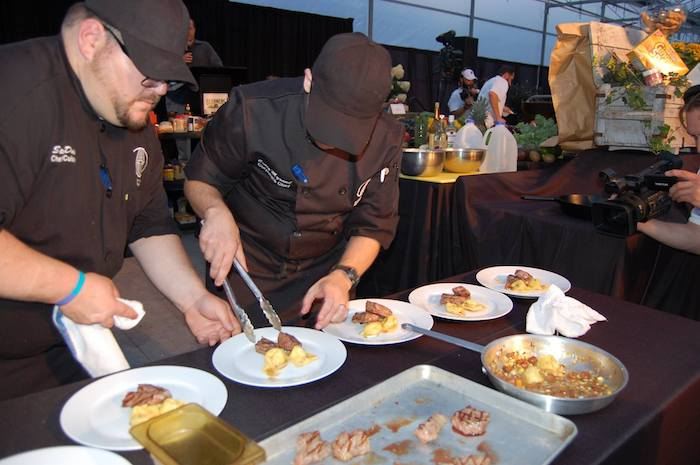 Will Challenge Each Chef To Prepare An Etizer Entrée And Dessert Utilizing A Secret Ing In Dish Addition Creating Food For