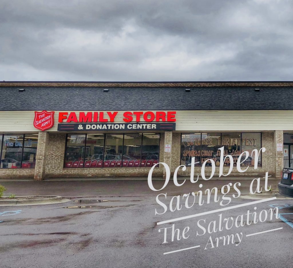 October Savings at The Salvation Army