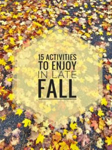 Activities To Enjoy in Late Fall