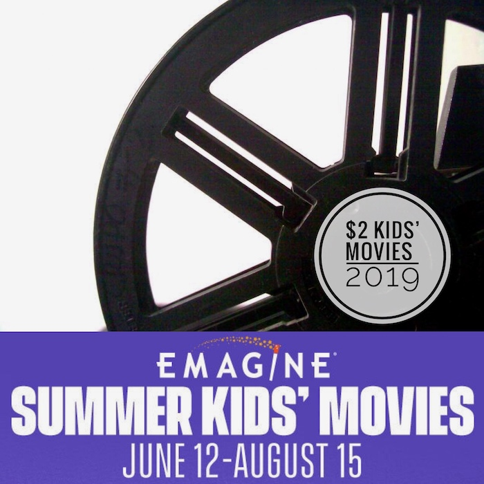 $2 Kids' Movies at Emagine Theatres Summer 2019