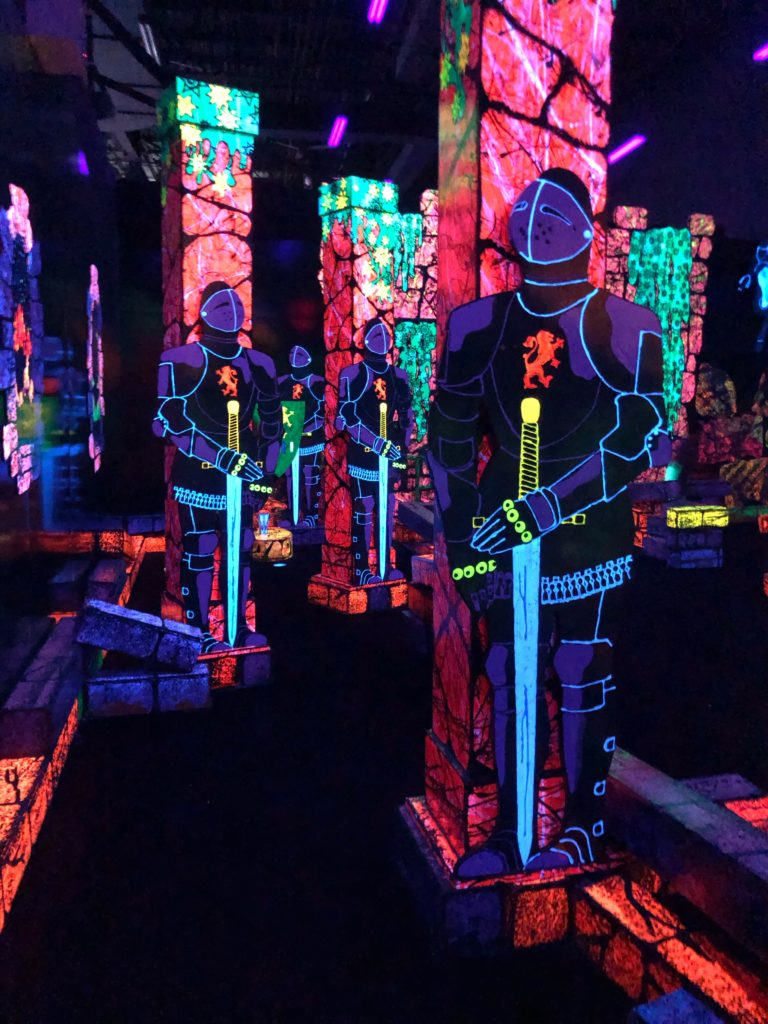 The Putting Edge in Novi is a great place to take kids, or head on a date. The one-of-a-kind glow-in-the-dark golf is a blast!