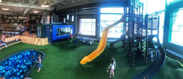 Playscape at the 242 Community Center in Ann Arbor