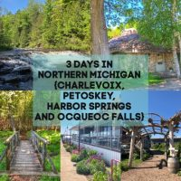 Collage of images for a Northern Michigan Itinerary