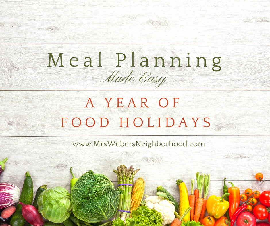 A Year of Food Holidays