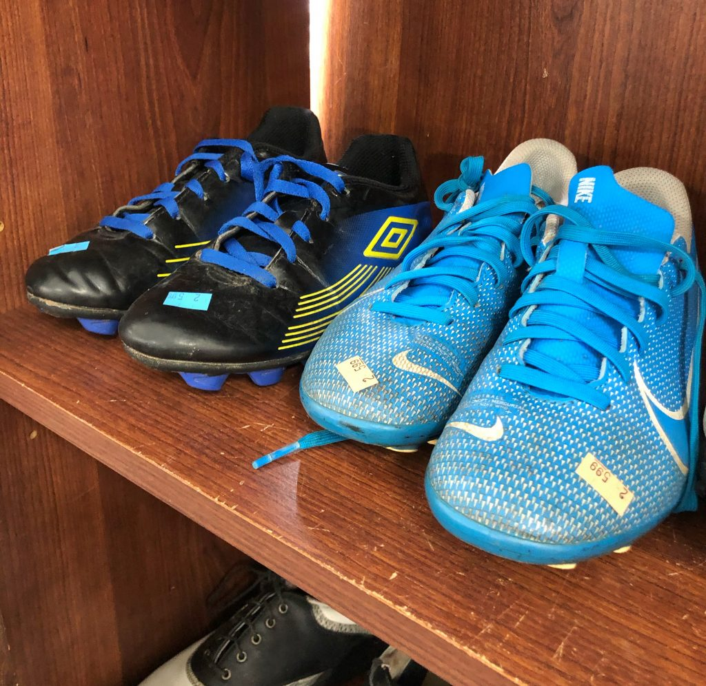 Soccer cleats at Salvation Army