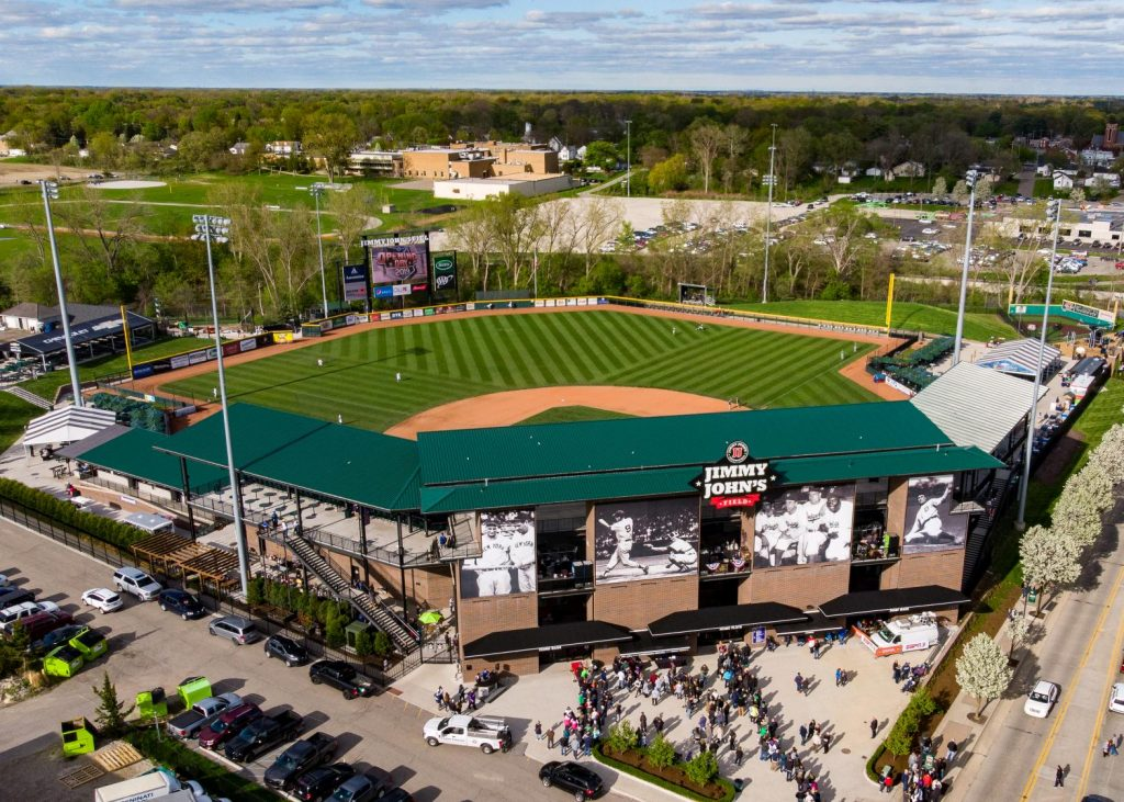Baseball at Jimmy John's Field in Utica
