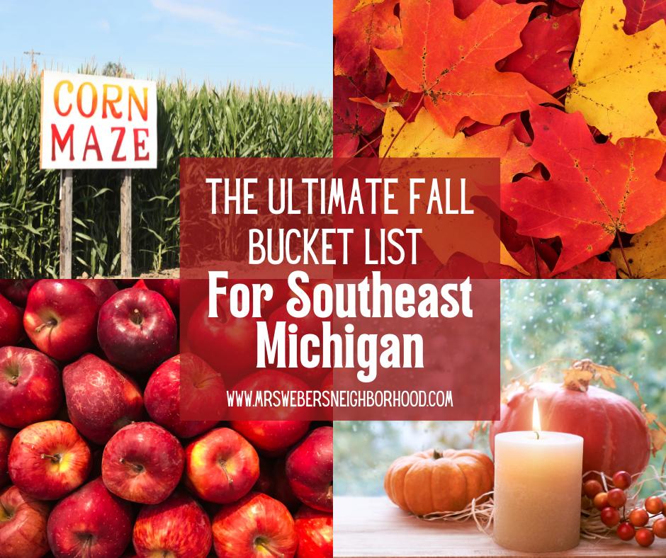Fall Bucket List for Southeast Michigan